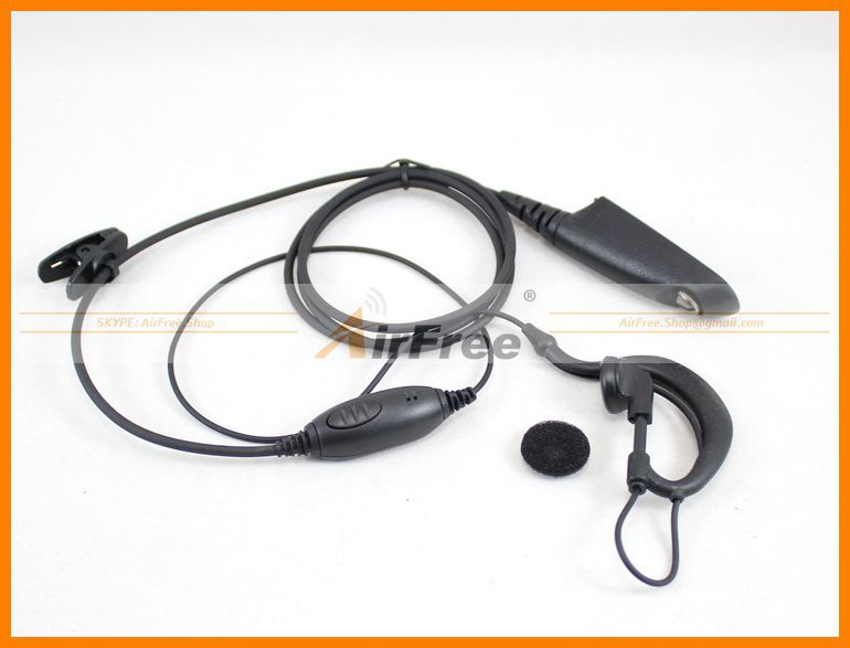1 wire Earpiece /mic for MOTOROLA GP328 GP338 GP340 GP360 GP380 HT750 GP680 GP329 Earphone, Ear Mic(China (Mainland))