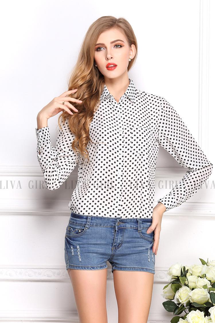 Рубашки Блузки В Горошек