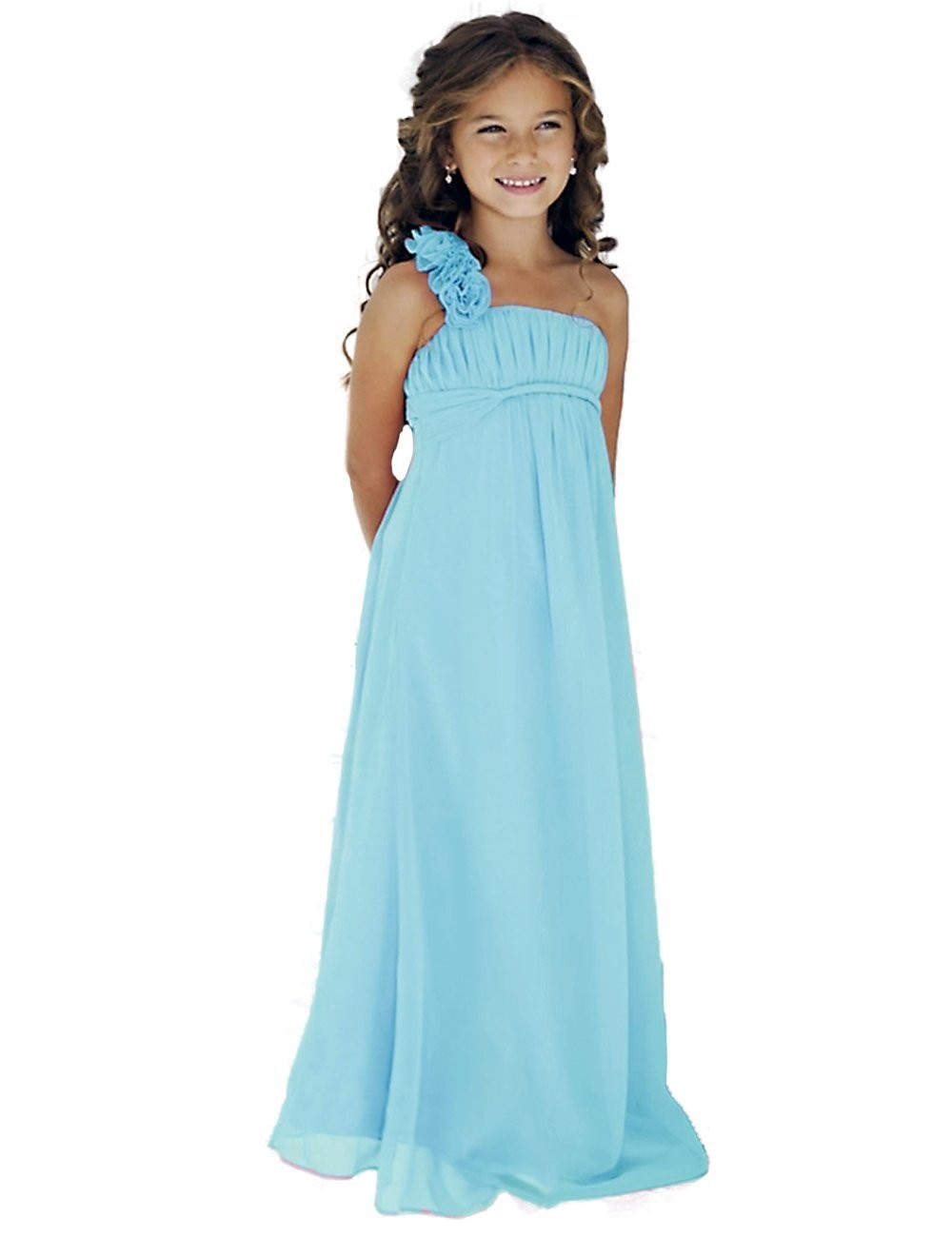 Popular beach wedding flower girl dresses buy cheap beach for Wedding dresses for young girls