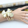 2017 Hot Sale Lady Luxury White Flower Bracelet Watches Women Fashion Pearl Quartz Wristwatches Relogio Feminino Montre Femme