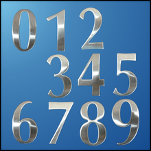 0-9 Modern House Numbers Stainless Steel Number Digits Sticker Plate Sign Size 6.2*3.5*1.9cm Door Letters Room Gate Number New(China (Mainland))