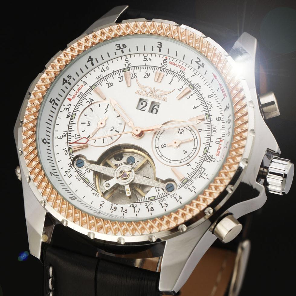 2014 new fashion Tourbillon men luxury watches business gift flywheel high quality classic mechanical self wind wrist watch<br><br>Aliexpress