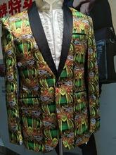 FREE SHIPPING 2015  new arrived fashion man  jacket  flower jacket good for party(China (Mainland))
