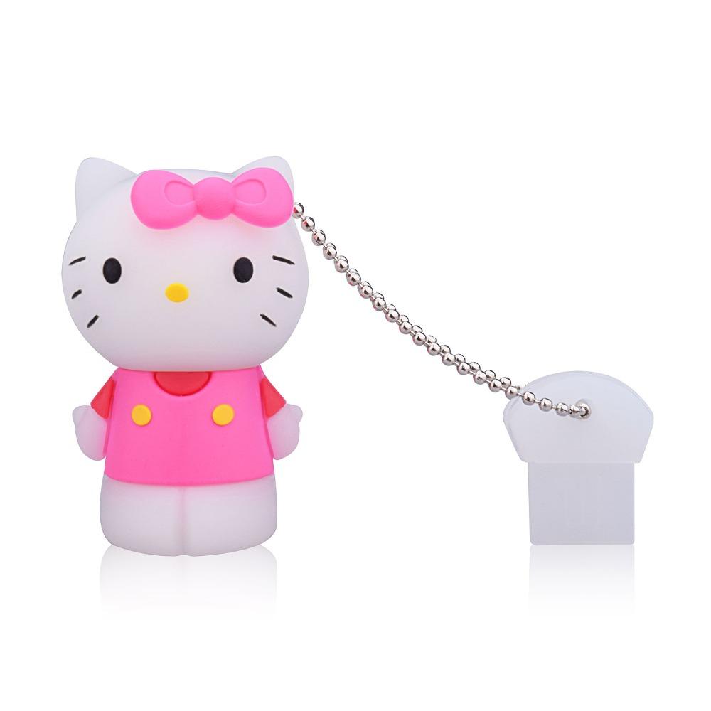 10pcs/lot Hello Kitty Model Cute USB Flash Drive Pendrives 4GB/8GB/16GB/32GB/64GB Cartoon Memoria USB Flash Disk Gift USB Drive(China (Mainland))