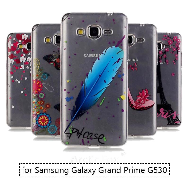 Fashion Slim Soft Pattern Clear Transparent TPU Silicone Case for Samsung Galaxy Grand Prime G530 G530H TPU Phone Bag Back Cover(China (Mainland))
