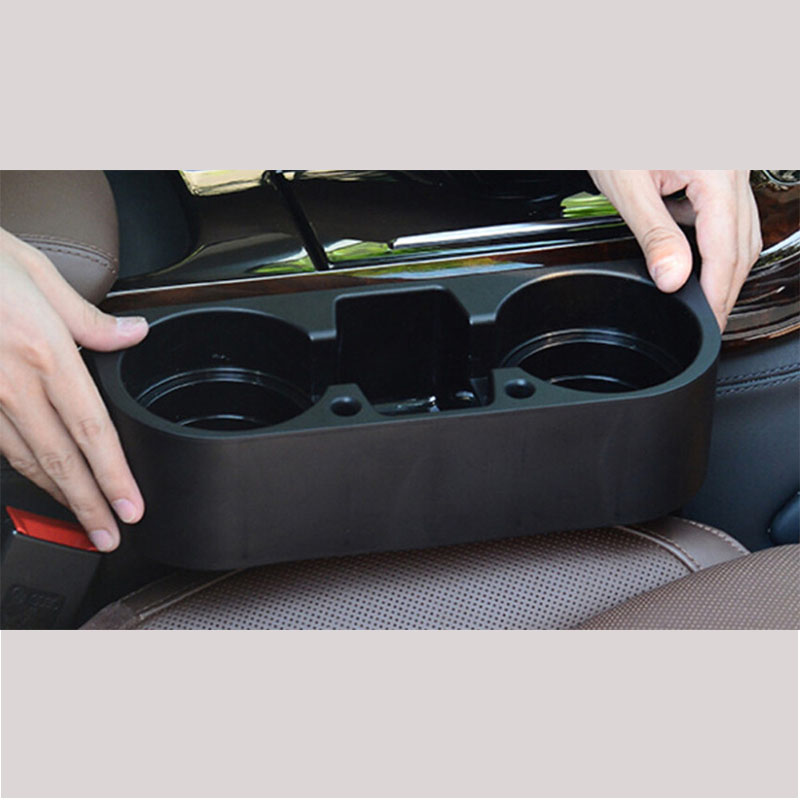 2016 black Car Auto Cup Holder Portable Multifunction Vehicle Seat Cup Cell Phone Drinks Holder Glove Box Car Interior Organizer(China (Mainland))
