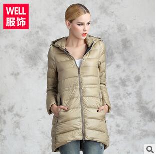 Пуховик длинная, зима женщины приталенный тонкий модели пальто S-6XL # 1167