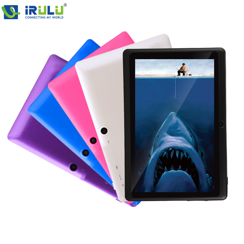 High End iRULU 7 inch Brand Tablet PC 8GB ROM Quad Core Android 4.4 1.5GHz Dual Camera OTG WIFI Multi-colors - iRulu-Net store