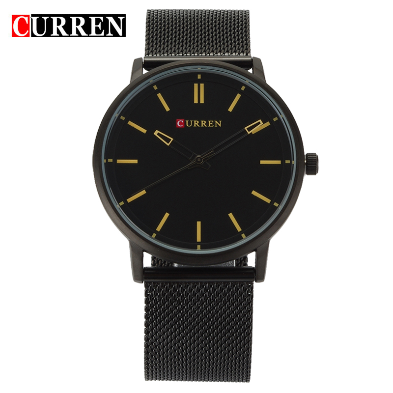Curren 2016 Newest Wristwatches Genuine leather Fashion watch Men brand Luxury watches Quartz-watch relogio masculino,W8233M(China (Mainland))