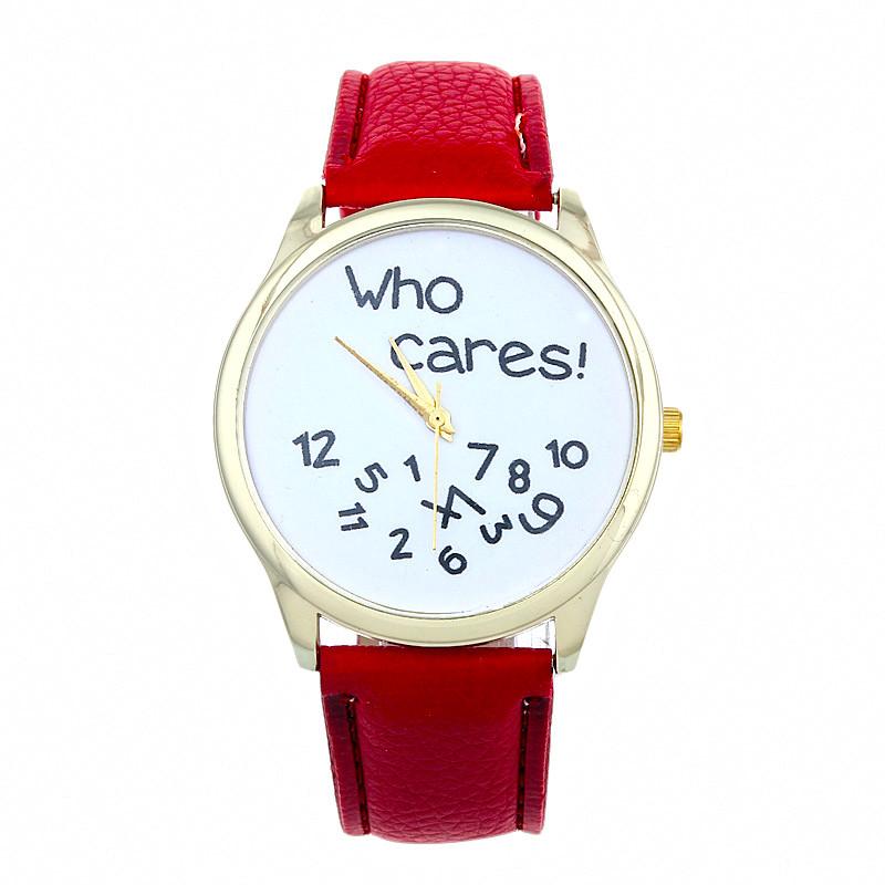 Cheap Watches For Women Vogue who cares Anyway Letters Print Quartz Watch Men Dress Hour Clock Relogio Feminino Wholesale Montre