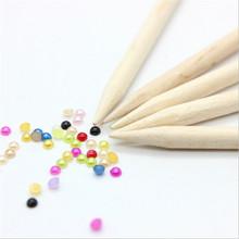 10pcs nail art design orange sticks cuticle pusher remover manicure care orange wood stick nail tools