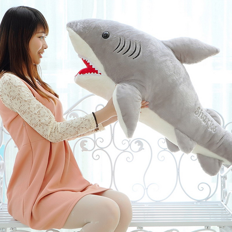 1 PC 70cm Shark Plush Toy Stuffed Pillow Doll Birthday Gift Kids Toy Baby Toy for Children Boys Girls Gifts VBT69 T50(China (Mainland))