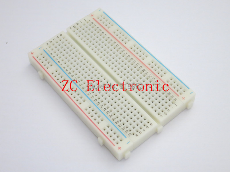 Free shipping,1pcs 400 Point Breadboard Bread Board Solderless PCB test Board for arduino(China (Mainland))