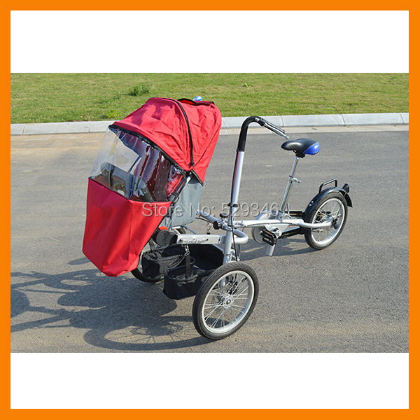 steel frame folding baby stroller taga bike for mother and baby with rain cover(China (Mainland))