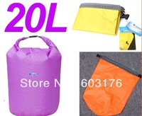Free Shipping 2Pcs/Lot 20L Dry bags Floating Kayak Canoe Organizer Outdoor Camping Hiking Waterproof Bags Compress Totes