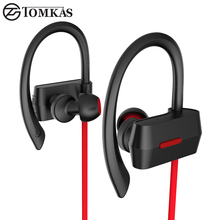 Bluetooth 4.1 Sport Earphone Stereo Mic Portable Waterproof Bluetooth Headset Earbuds Wireless Headphone For Mobile Phone TOMKAS(China (Mainland))