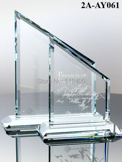 Best selling new design high quality jade glass plaque Sahara Glass Award(China (Mainland))