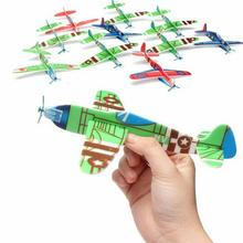 So Easy World War II Foam Glider Assorted Power Prop Flying Gliders Plane Aeroplane Kids Children DIY Toys(China (Mainland))