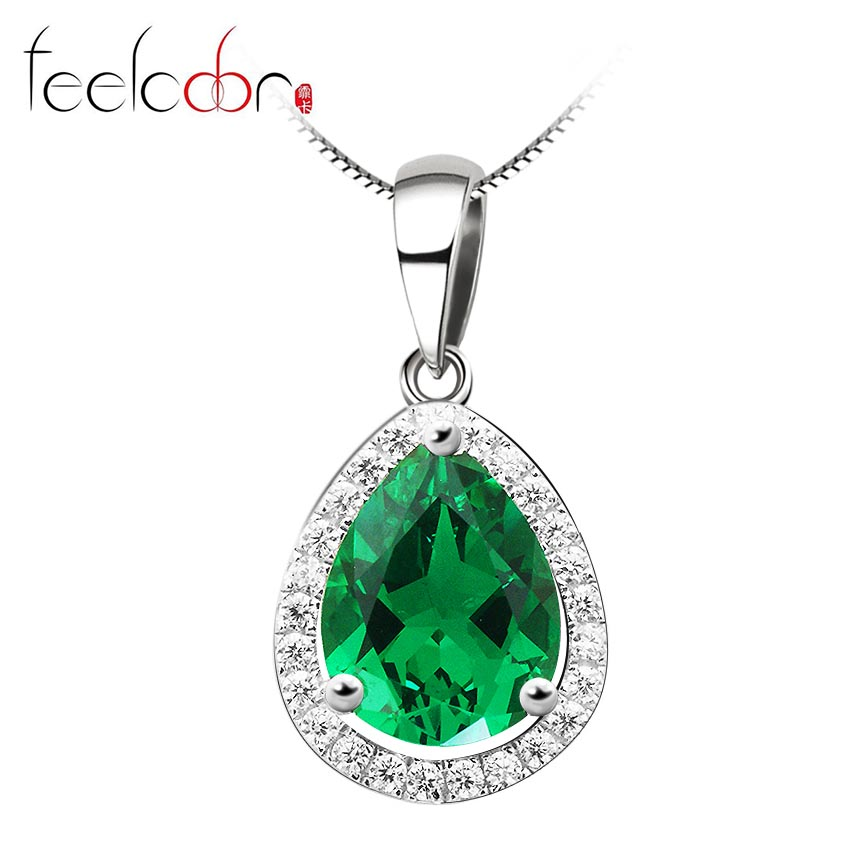 Luxury 3.7ct Emerald Pendant for Women 925 Sterling Silver Water Drop Emerald Jewelry Charms 925-sterling-silver Emerald-Jewelry<br><br>Aliexpress