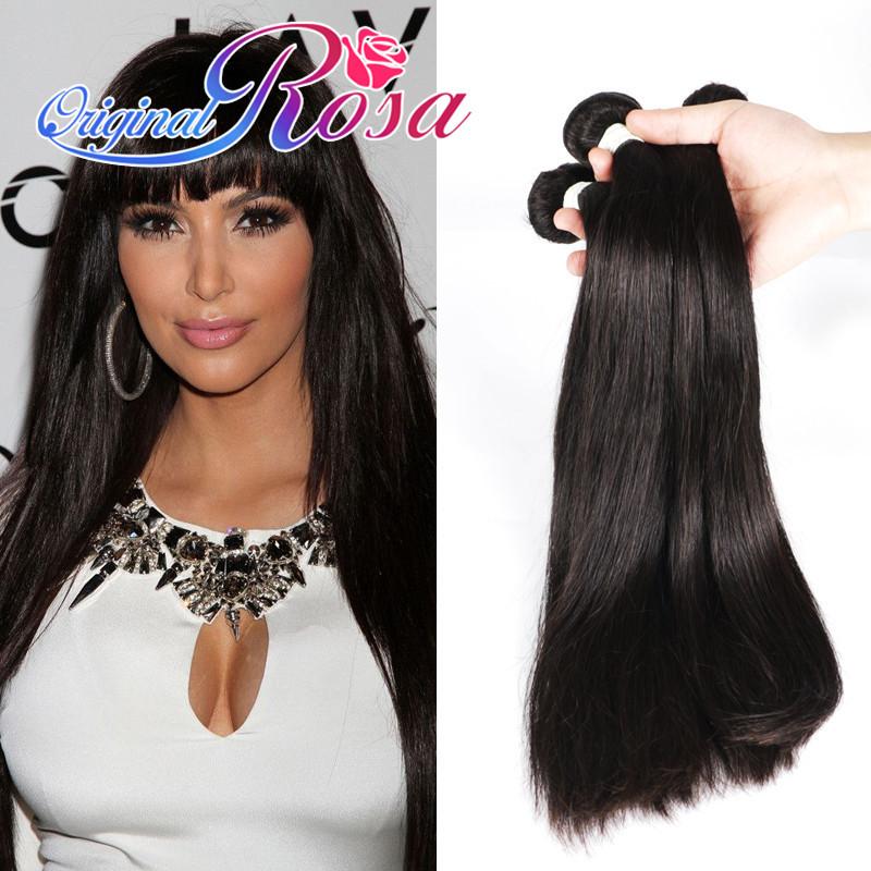 8A Virgin Hair Weave Filipino Virgin Hair Straight Cheap Unprocessed Hair Bundles 4pcs/lot Virgin Filipino Human Hair Extension(China (Mainland))