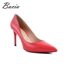 Buy Bacia Women High Heel Shoes Basic Model Pumps Lady Sexy Pointed Toe Wedding Shoes Pink Red Pumps Handmade Sheepskin Shoes VB034 for $39.82 in AliExpress store