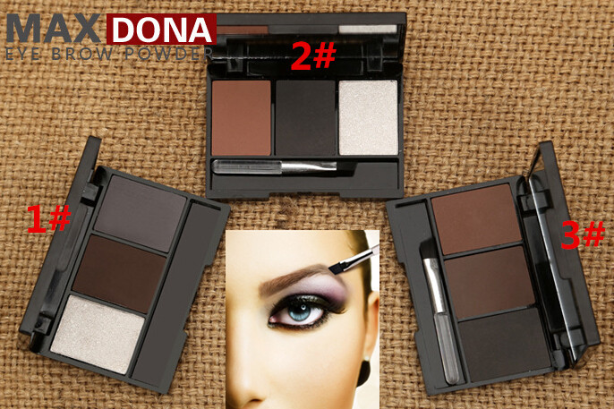 2015 Promotion Hot Sale Full Size Powder Shadows Makeup Professional 3 Colour Eyebrow Powder shadow Palette