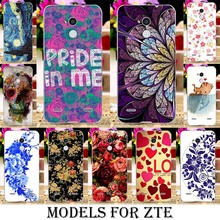 soft tpu Phone Cases ZTE Blade V7 Lite A2 V2 lite A510 A610 V6 Max BA610 Cover Rose Peony Flowers Background - Blue Mill 3C Products Online Super Market store