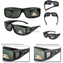 Solar Shield Polarized Lens Fits Over Glasses Unisex UV400 Protection Outdoor  Wrap around Sunglasses Clip on Glasses -Cool New!(China (Mainland))