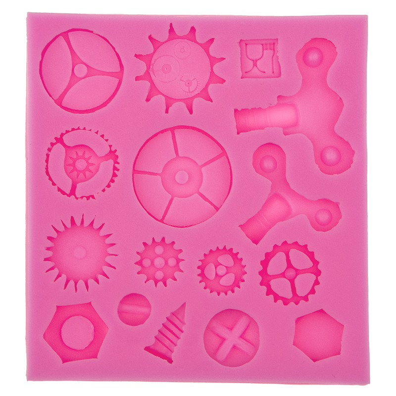 Gears & gearwheel Silicone Mold Fondant Cake Molds Cupcake Mould Chocolate Baking Tools for Cakes decoration F0576(China (Mainland))