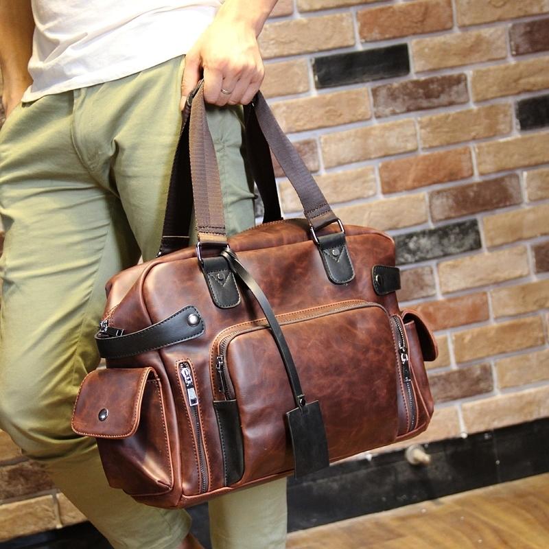 Original design crazy horse leather mens casual bags/single shoulder bag/bag/handbag/design restoring ancient ways<br><br>Aliexpress
