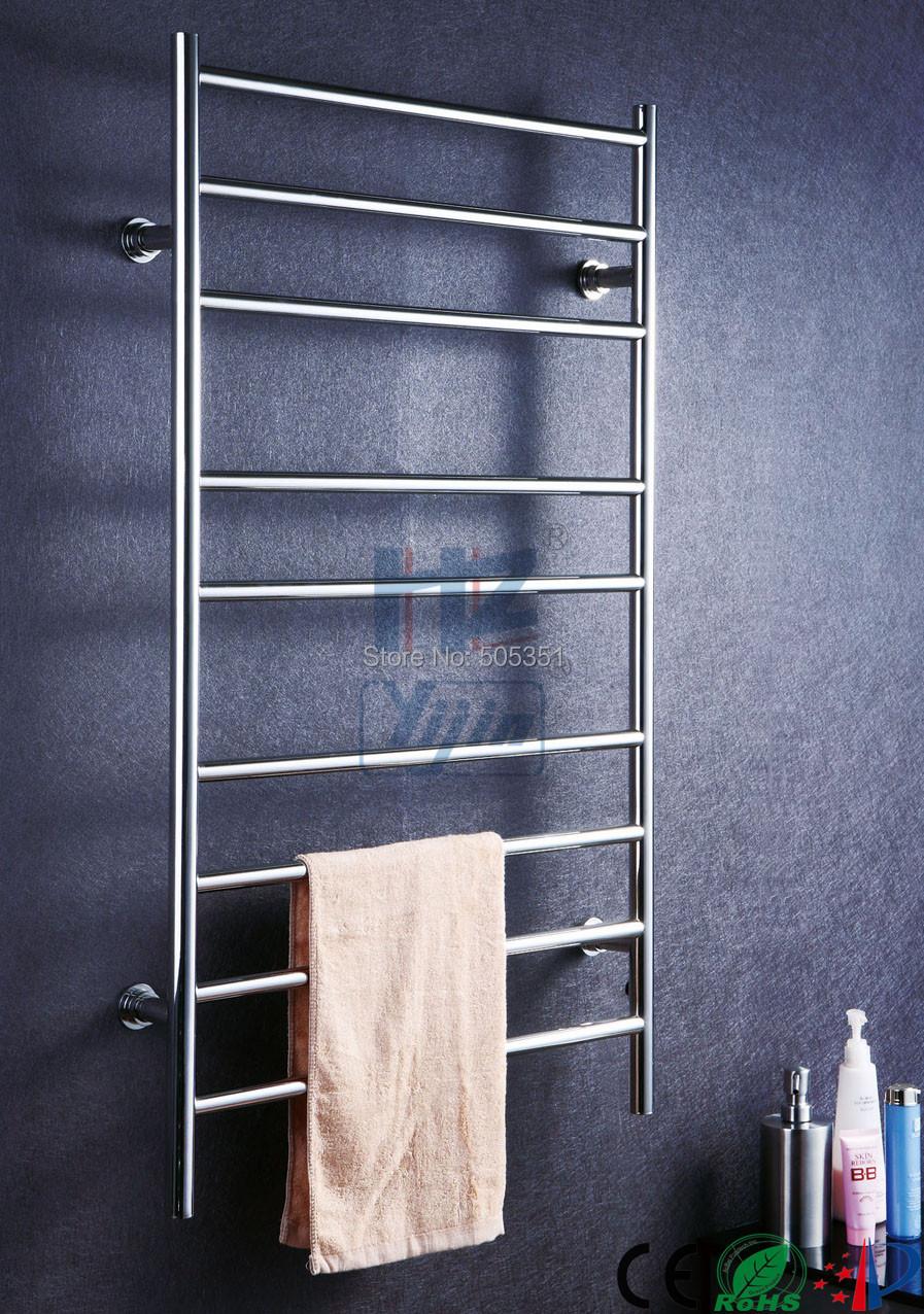 Buy Polishing Bathroom Towel Rack Heater Electric Towel Heater Stainless Steel