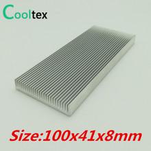 (Offerta speciale) 100x41x8mm Alluminio del Dissipatore di Calore Dissipatore di Calore del radiatore (dente Dense)(China (Mainland))