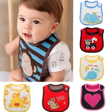 New sale Baby bibs three waterproof bibs cotton embroidered bibs Cartoon embroidery Paste type free shipping S001