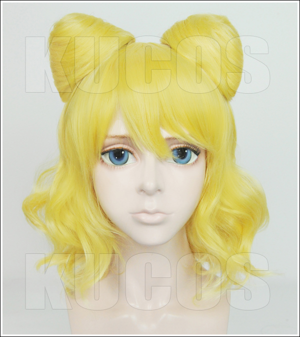 High Quality Short Curly Mirei Minami Golden Blonde Wig Puripara Pripara Synthetic Hair Anime Cosplay Wig Ponytail Wigs + Cap<br><br>Aliexpress