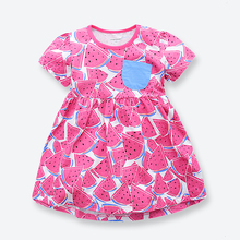 Buy Casual Girls Dress Summer Short-Sleeve Children Dresses Brand Cotton Printed Baby Girl Dress Kids Clothes 1-6 Years for $9.98 in AliExpress store