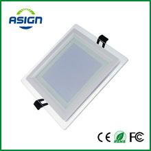 Dimmable HA CONDOTTO Il Downlight Pannello Quadrato Luci di Pannello di Vetro di Alta Luminosità Da Incasso A Soffitto Lampade Per La Casa SMD5730 AC110V AC220V(China (Mainland))