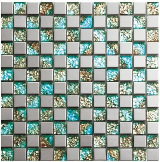 zilveren mirror+blue kristalglas metalen mozau00efeken roestvrij staal ...