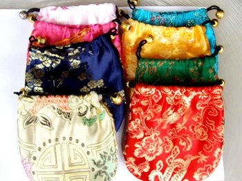 best price for Gift bag   Jewelry Pouch/bag 10X 10cm chinese  silk bag/pouch