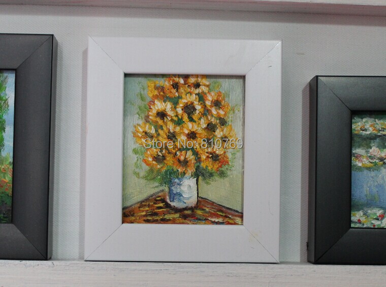 100% hand-painted oil painting on Small thin board Match framework high quality Beautiful flowers DM-928001(China (Mainland))