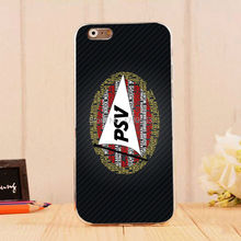 hot Black PSV Eindhoven Soft Silicon clear TPU Skin case for iphone6 6S(4.7inch) and iphone6 6Splus(5.5inch)