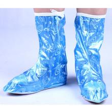1 Pair reusable shoe covers Waterproof shose Cover Men Cycle Rain Boots Flat Slip-resistant Overshoes Rain Gear dust mop slipper