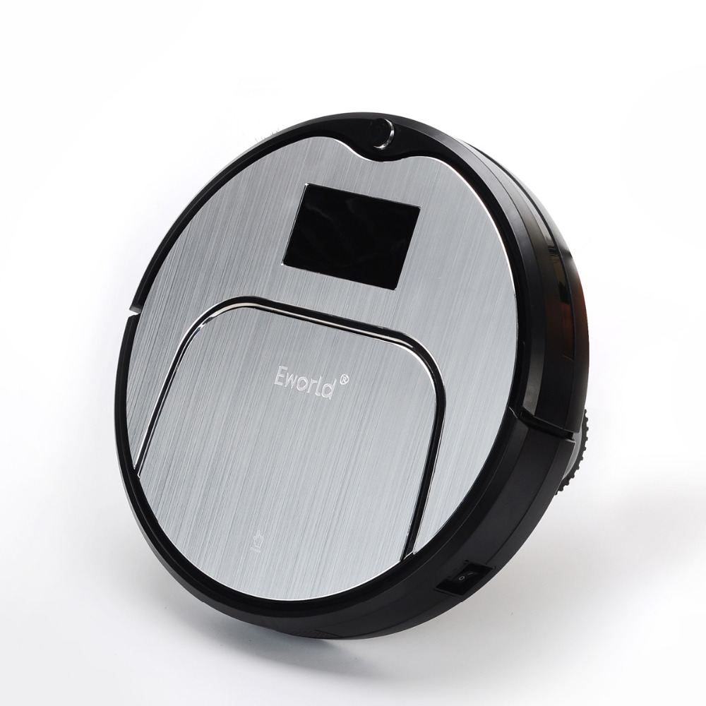 E-World Cleaning Products Robot Vacuum Cleaner M883 With Wet and Dry Mop TouchScreen HEPA Schedule SelfCharge As Gift For Mother(China (Mainland))