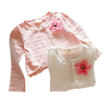 New Spring Summer Autumn Baby Girl Outwear Empty thread 100% cotton long-sleeve Cape baby clothing