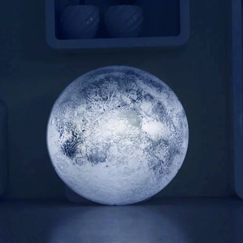 Wall Mounted Moon Lamp : Relaxing Healing Moon Light ,Indoor LED Wall Moon Lamp with Remote Control Novel Lamp Retailsale ...