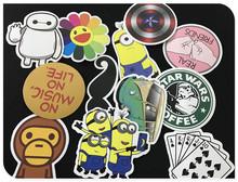 New Fashion 100 pcs Mixed Emoji Stickers For Children Anime Cartoon Stickers In Notebook Wall Car Sticker Skateboard FF-BQB3
