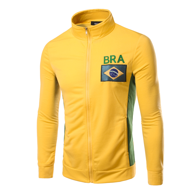 Hot Sale Men Brand Coat Jacket Flag Pattern Mandadin Collar Slim Fitness Men Jacket 6 Color PSW27(China (Mainland))
