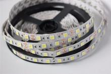 SMD 5050 LED Strip 5M 60led/m DC 12V 24V Flexible Ribbon Diode Tape RGB White Warm White Red Green Blue Yellow Light(China (Mainland))