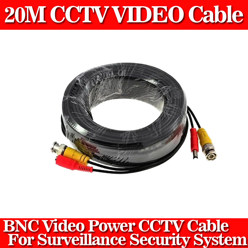 New CCTV Camera Accessories BNC Video Power Siamese Cable for Surveillance DVR Kit Length 20m 65ft(China (Mainland))