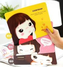 2016 New Creative Cute Girl Pattern Computer Mouse Pad Mat Game Mousemat Mousepad(China (Mainland))