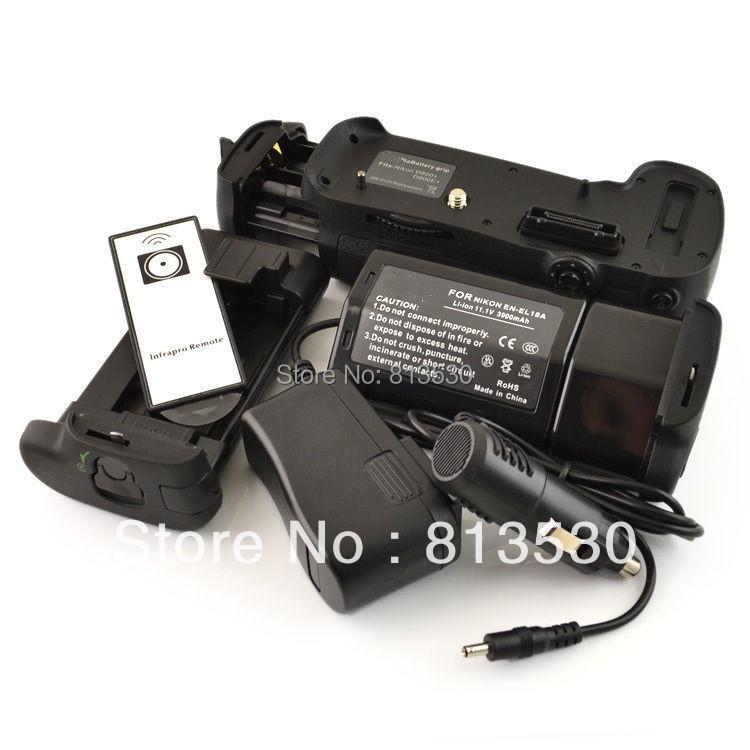 MB-D12 Battery Grip + IR Remote Control + EN-EL18A Battery + EN-EL18A Charger for Nikon D800 D800E D810 Digital SLR Cameras.(China (Mainland))